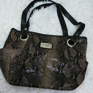 Relic Taupe Faux Snakeskin Purse